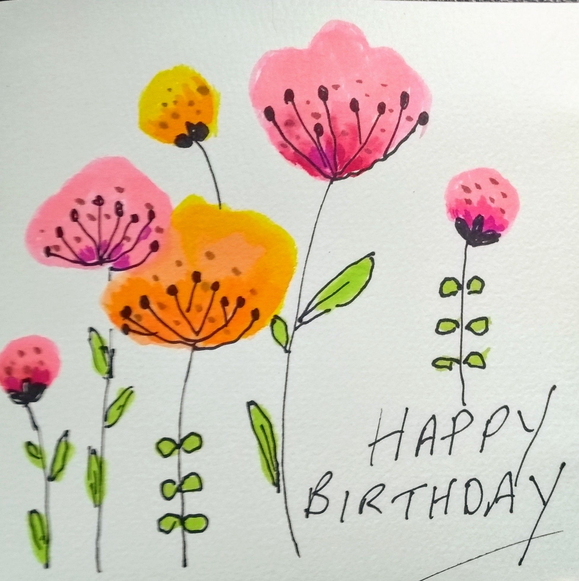Set of cards watercolour original watercolour cards flower cards butterfly cards birthday pack cards birthday cards pack of cards