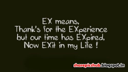 Ex girlfriend Quotes for Facebook | Labels: English Quote ...