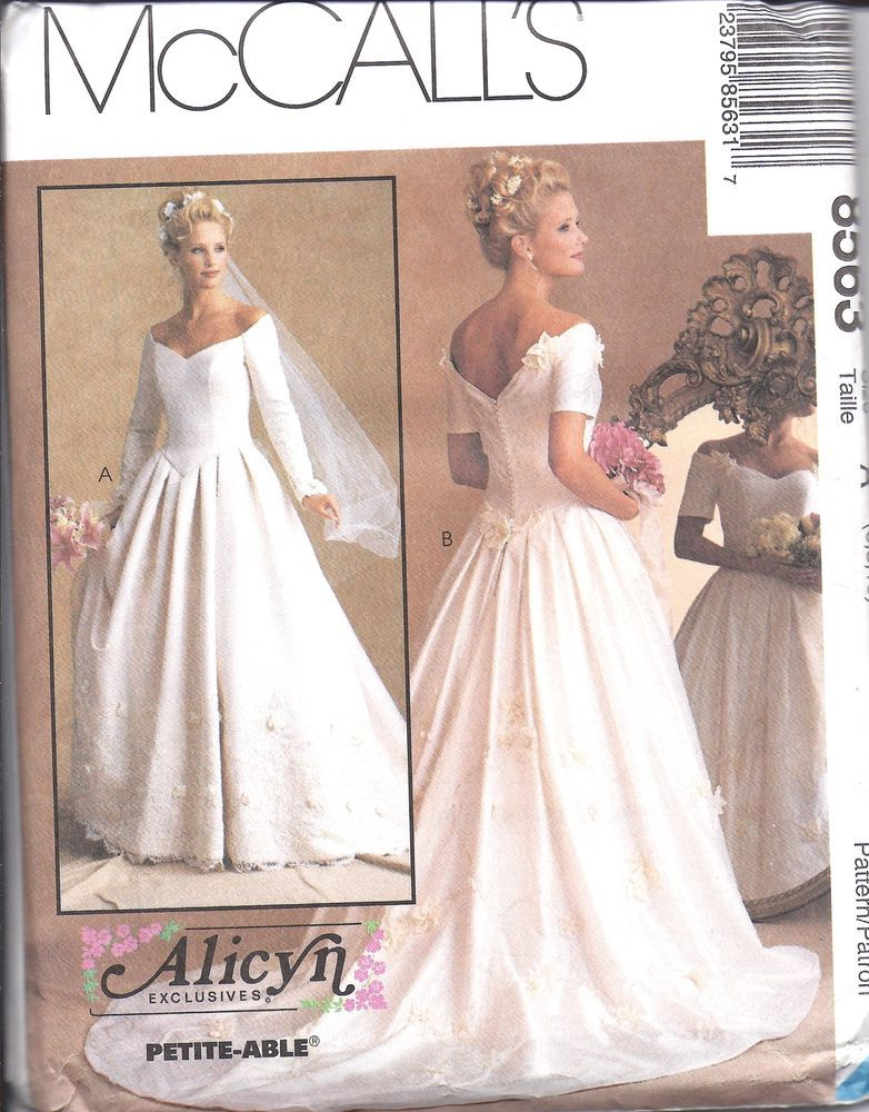 8563 UNCUT Vintage McCalls SEWING Pattern Alicyn Excl. Bridal Gown ...