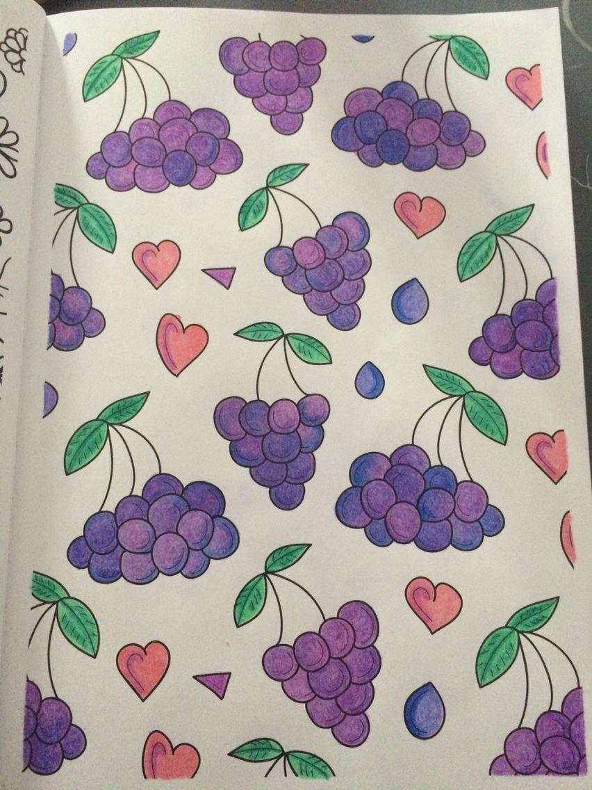 Druiven Kleuren Kleurplaten Druiven