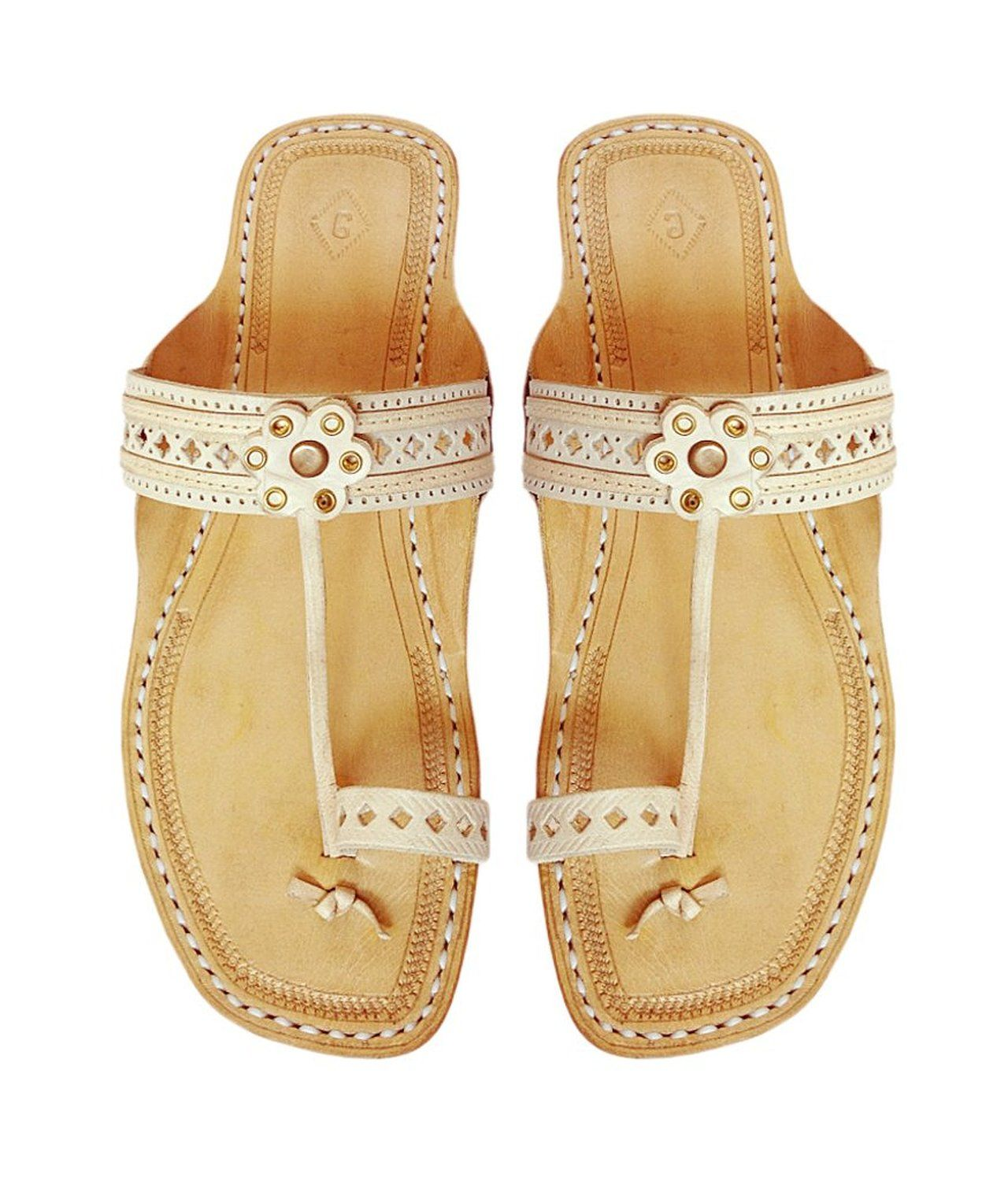 b6c5d2f9cca25 Amazon.com  Kolhapuri Chappal Women s Natural Leather Sandal US6  Shoes