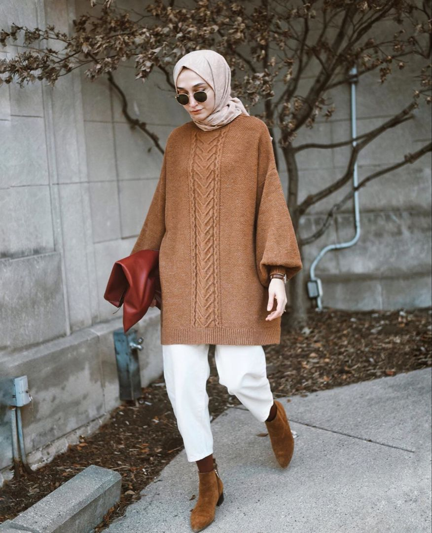 How To Wear Sweater Dresses -   18 style Hijab winter ideas