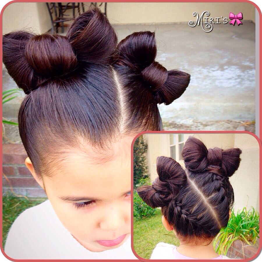 bows hair style for little girls | my creation (miris_things