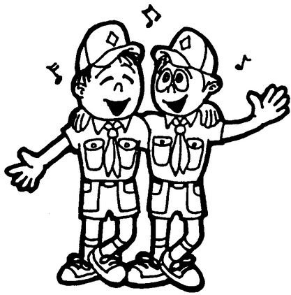 cub scout, camp, singing, activity, black and white