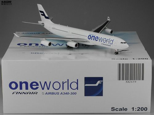 Finnair A340-300 Special One World Scale 1200 Diecast models JC - how would you weigh a plane without scales