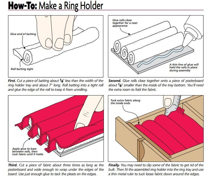How to make cufflink ring earing jewelry box holder