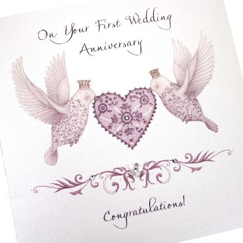handmade first anniversary card 1st flutter birds purple heart Congratulations Your Wedding Anniversary handmade ruby wedding anniversary card 40 years lovebirds heart flutter purple 'ruby wedding anniversary, 40 years together congratulations on your wedding anniversary