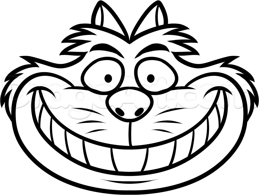 how to draw cheshire cat easy, step by step, disney characters ... - Cheshire Cat Smile Coloring Pages