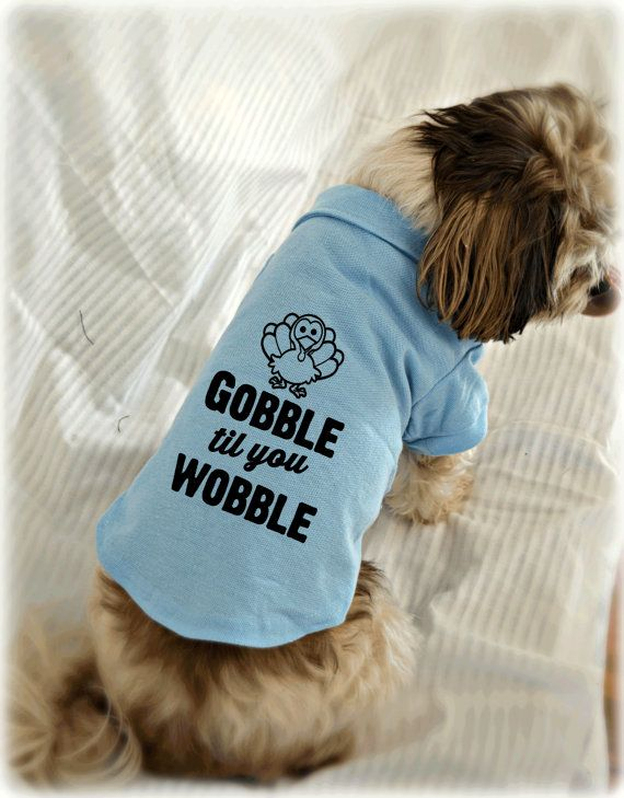 Thanksgiving Dog Shirt Gobble Til You Wobble Polo By
