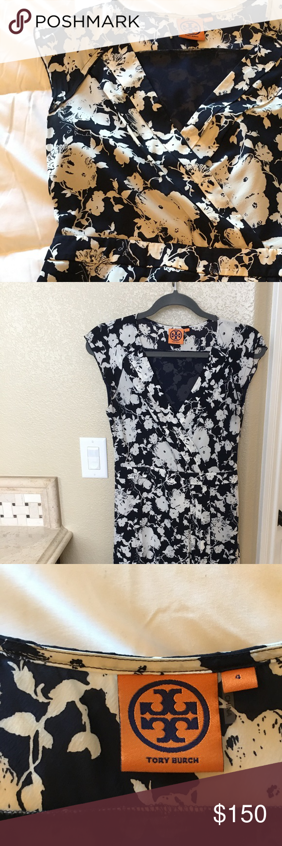 Tory Burch dress ( size 4) Tory Burch dress for summer, great for dress up or down. Dresses Midi