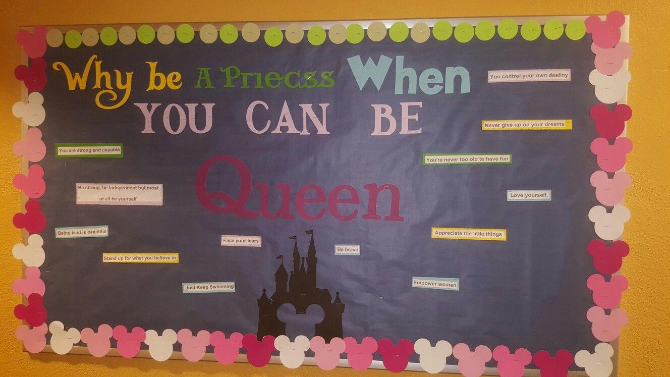 Disney RA bulletin board  Made by Katarina Langley Pittsburg State university