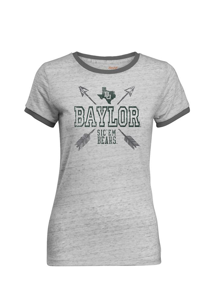 Baylor Bears Juniors Grey Tomboy Short Sleeve Crew T-Shirt