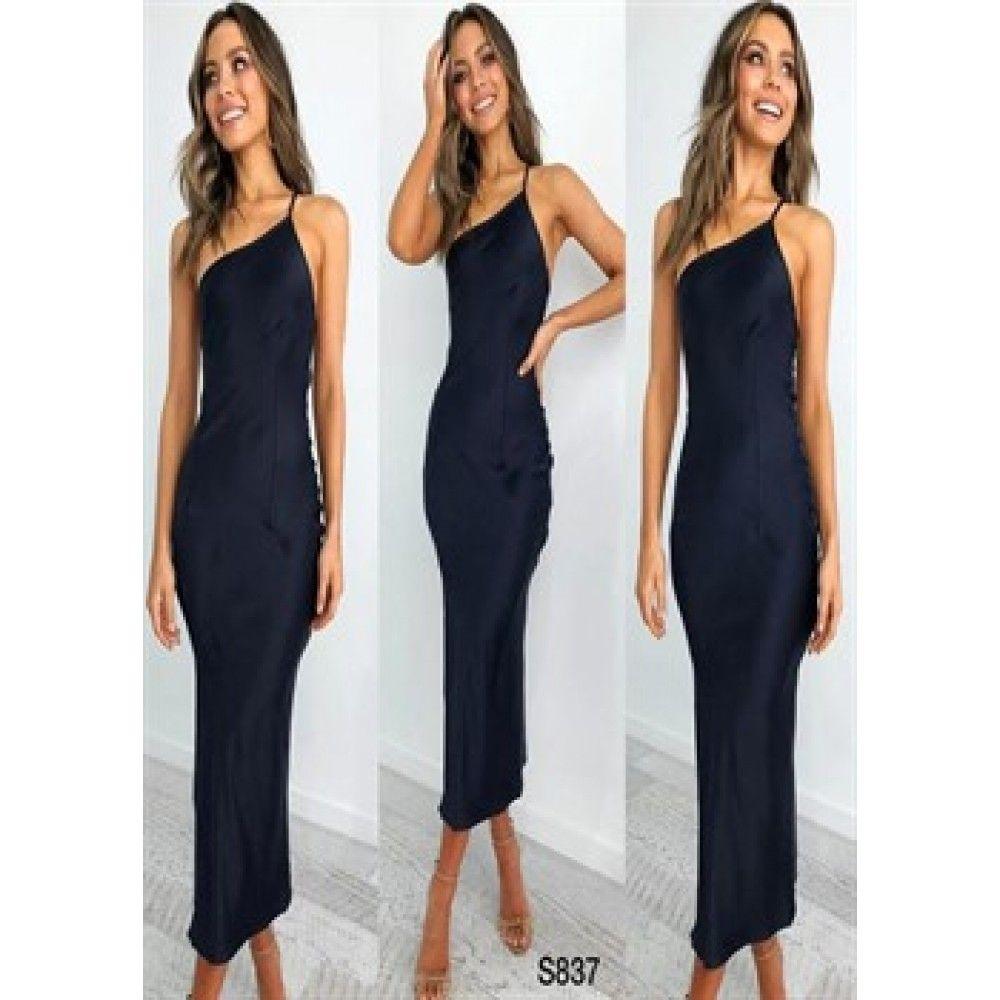 Ithal Atlas Ince Askili Elbise Siyah 2020 Elbise Siyah Shopping