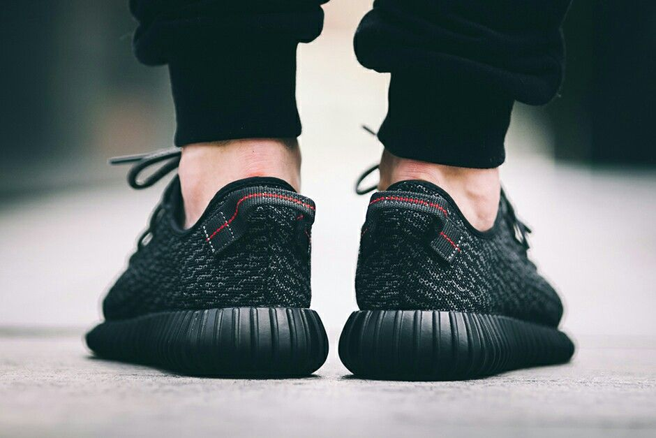Pirate Black Yeezy Boost 350 on foot Adidas yeezy boost  Adidas yeezy boost