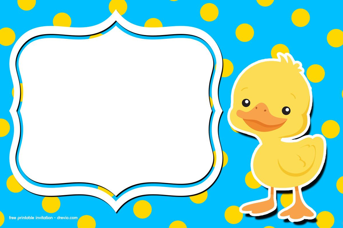 Free Printable Rubber Duck Birthday Invitation Free