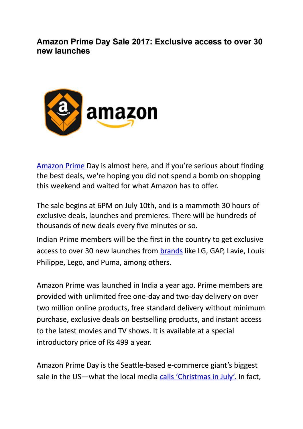 Amazon Prime Day Sale 2017 Amazon Prime Day Prime Day Amazon Prime