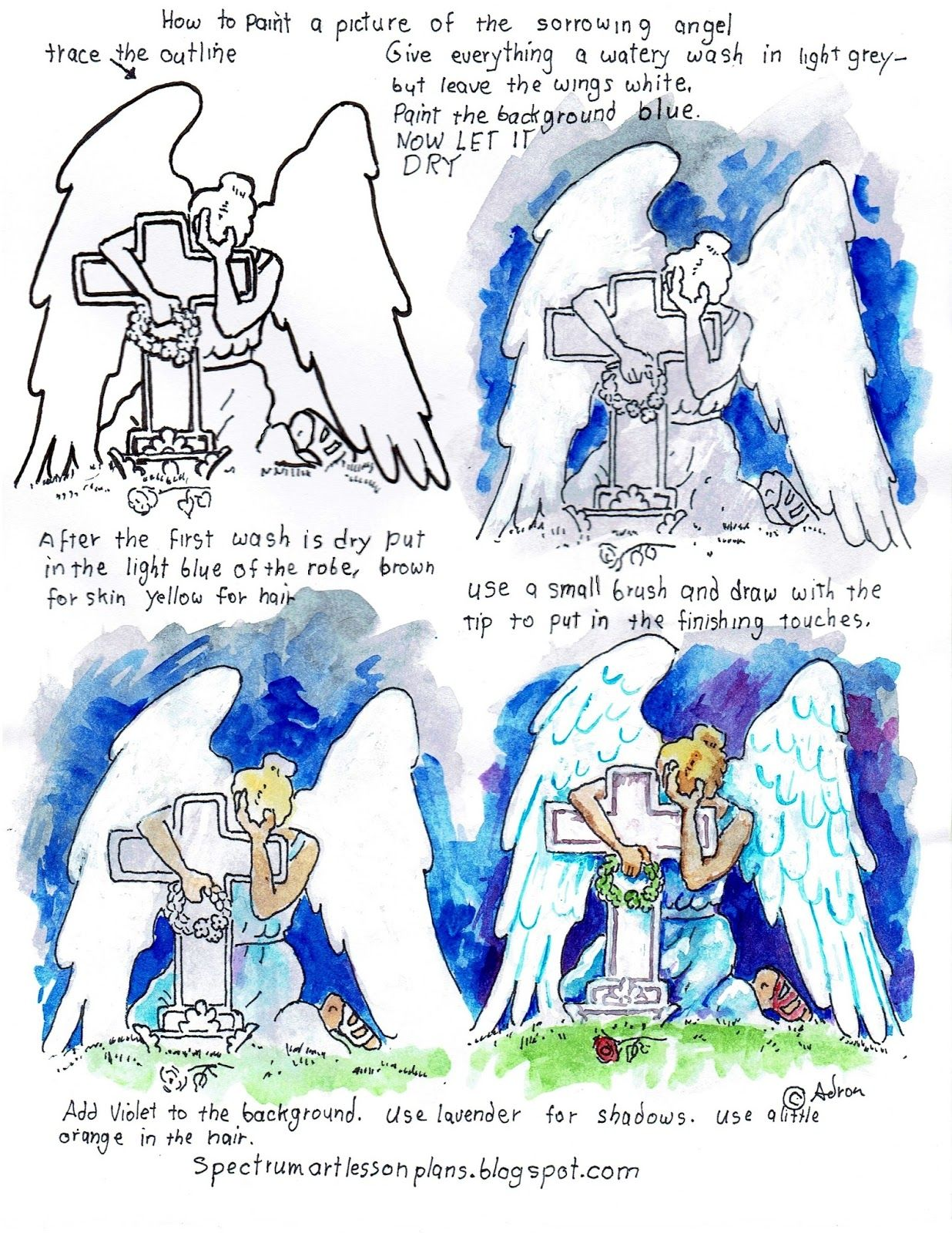 How To Paint A Picture Of The Sorrowing Angel