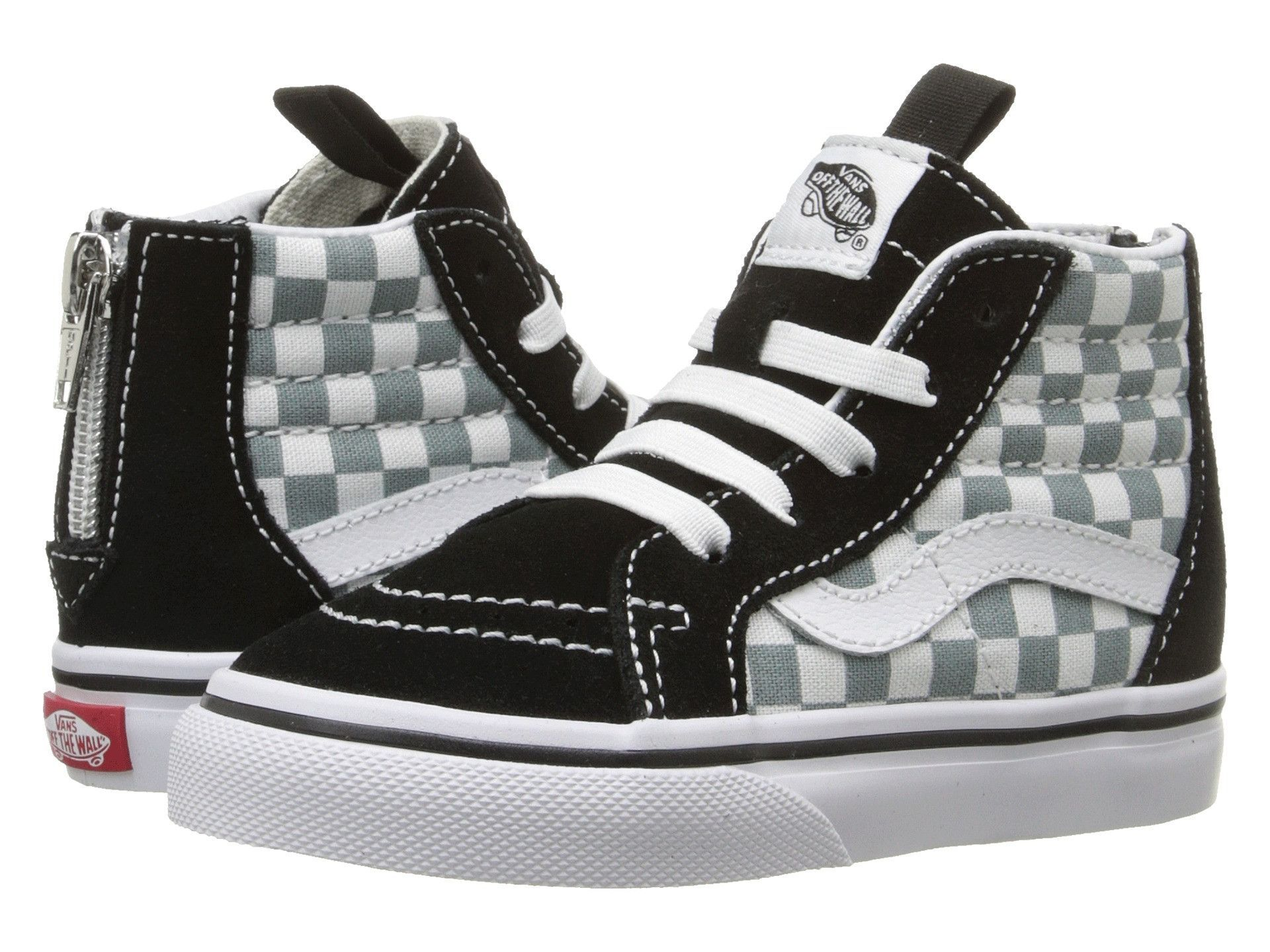 8d714a3c3ea1 VANS Checkerboard Sk8-Hi Zip Toddler