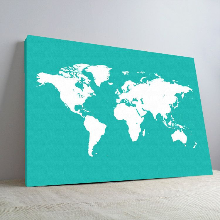 World map canvas print stretched canvas map art a p1001 wall items similar to world map canvas print stretched canvas map art a p1001 on etsy gumiabroncs Gallery