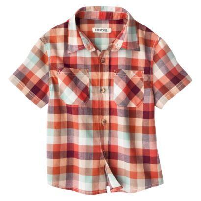 F13 Cherokee® Infant Toddler Boys' Short-Sleeve Button Down Shirt $8