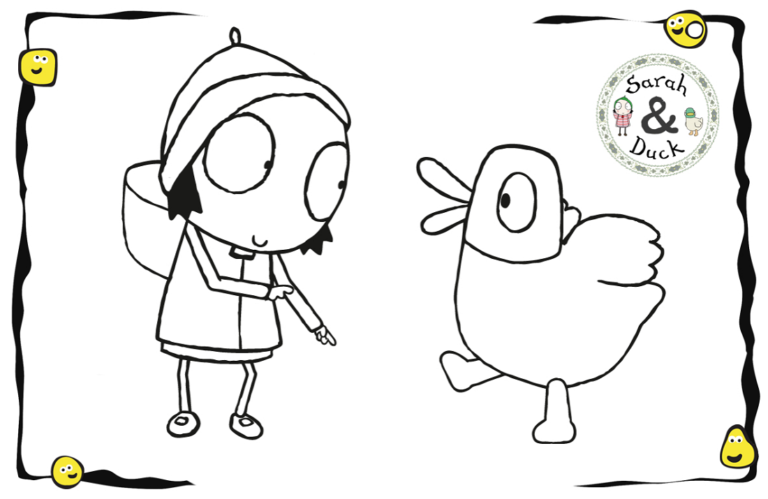 Sarah And Duck Coloring Pages For Kids In 2020 Coloring Pages For Kids Coloring Pages Cartoon Coloring Pages
