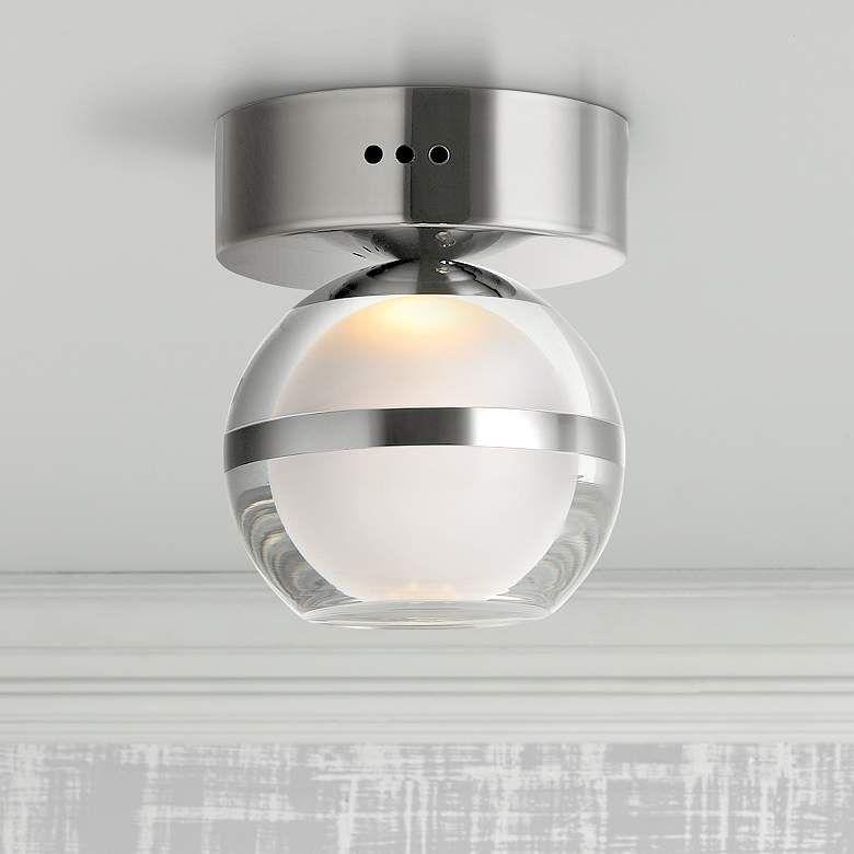 Et2 Swank 4 3 4 Wide Polished Chrome Led Ceiling Light 47n94 Lamps Plus 2020 Led Ceiling Lights Ceiling Lights Led Ceiling