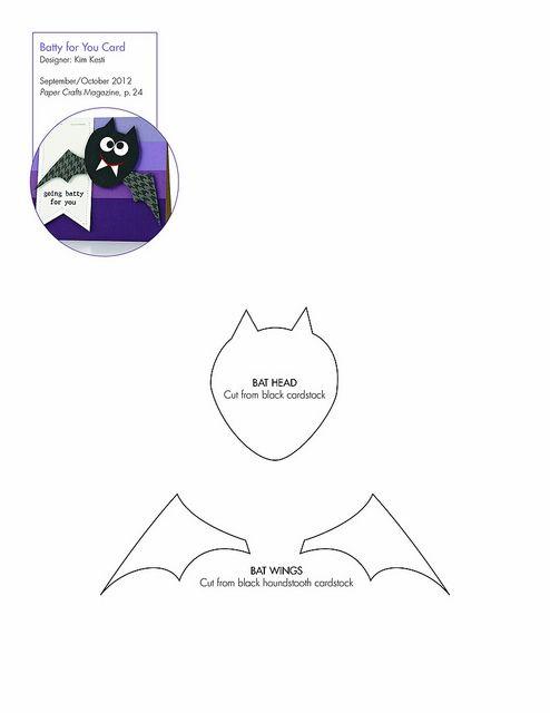 free bat pattern template downloadable clipart transfers