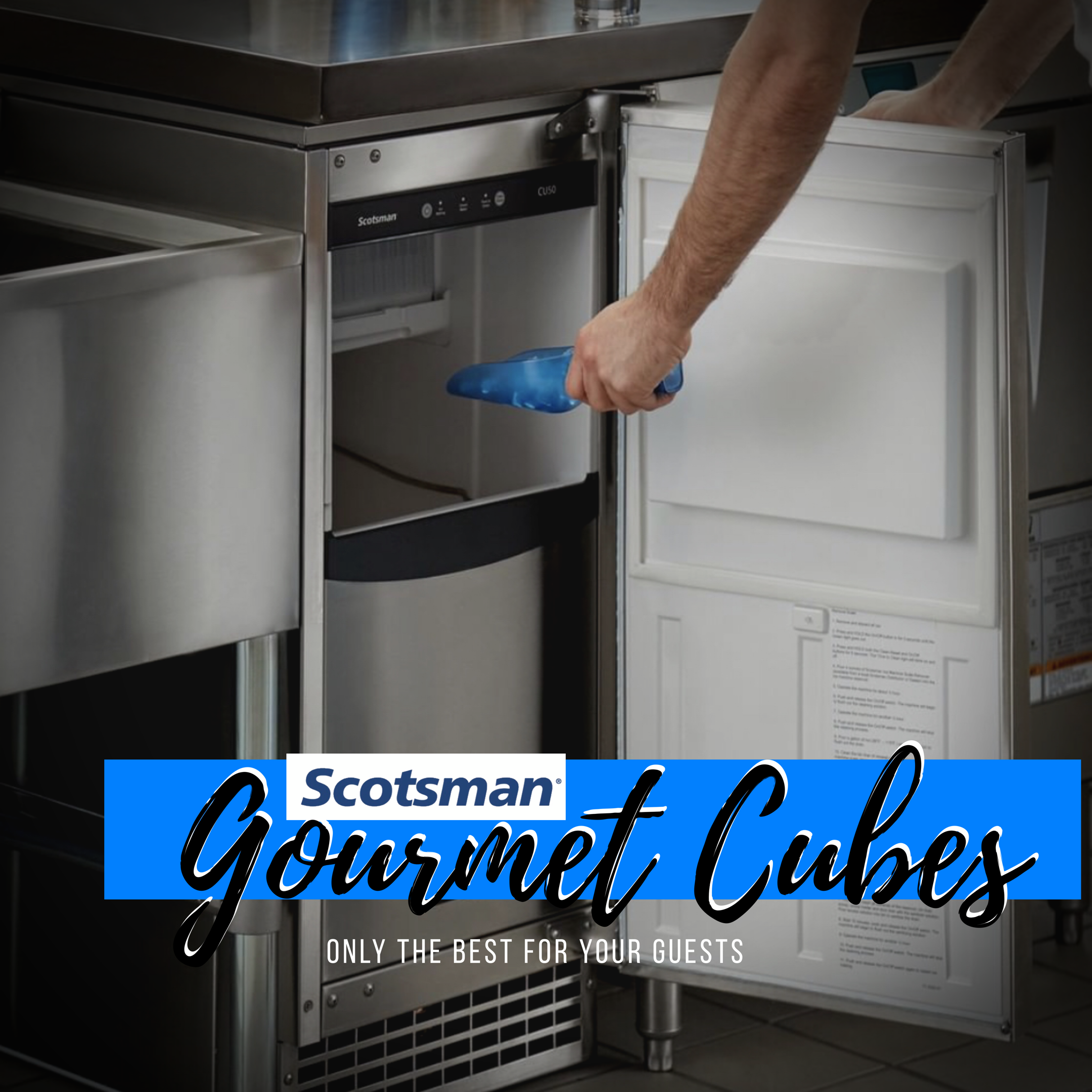 The Scotsman Ice Cu50 Will Give Your Customers The Larger Gourmet Cube That People Love But For Commercial Applications Such Luxury Bar Scotsman Floor Drains