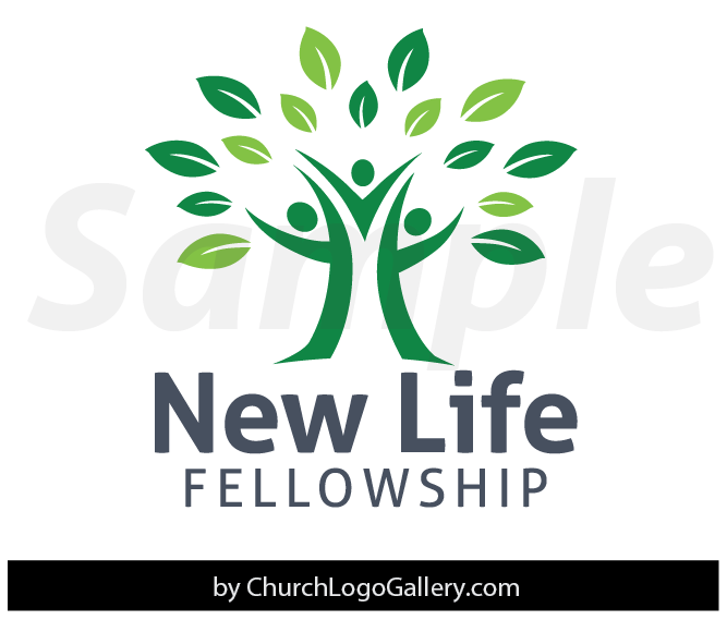 Church Logos, Tree Tree logo with 3 peopl...