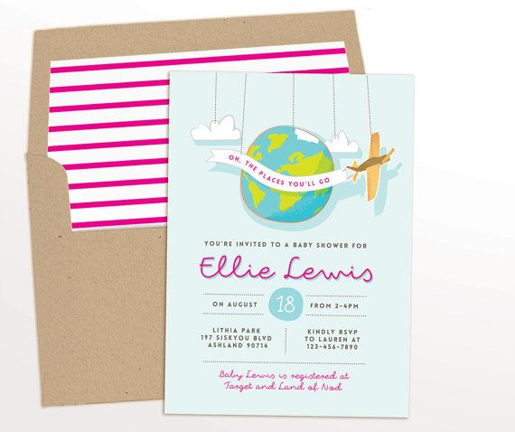 Travel baby shower invitations for girl or gender neutral diy travel baby shower invitations for girl or gender neutral diy printable or e vite filmwisefo Image collections