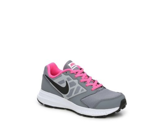 Women s Nike Downshifter 6 Girls Toddler   Youth Running Shoe -  Grey Pink Black dde2acffb2