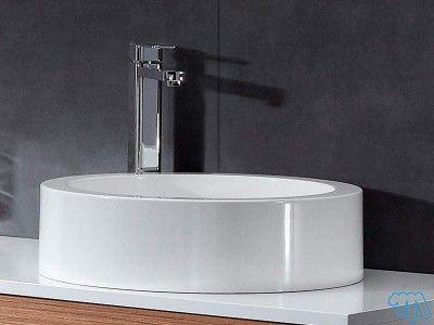 Vasque ronde à poser Blanc brillant Vasque design BORA Salle de - Meuble Vasque A Poser Salle De Bain
