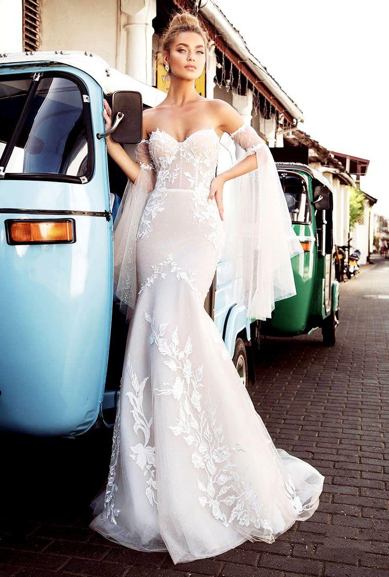 Wedding Dresses Mermaid Wedding Lace Appliques Strapless Style Mermaid Trumpet Bridal Dress Trumpet Bridal Dress Wedding Dresses Online Wedding Dress [ 1188 x 800 Pixel ]