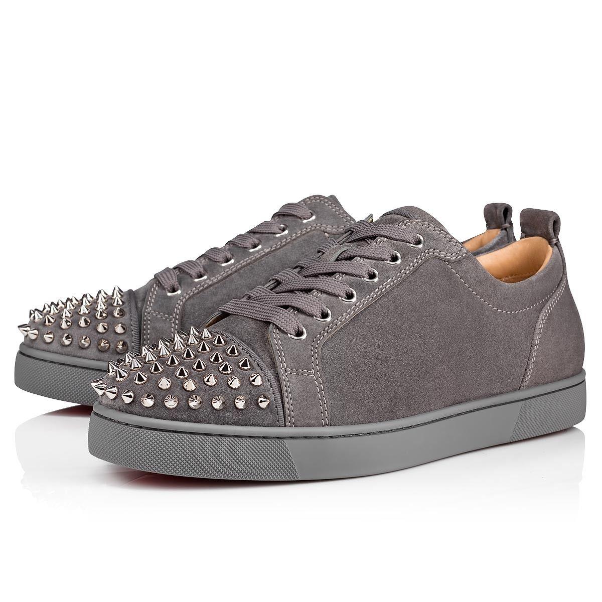 Louis Junior Spikes ShadowSv Suede Men Shoes Christian