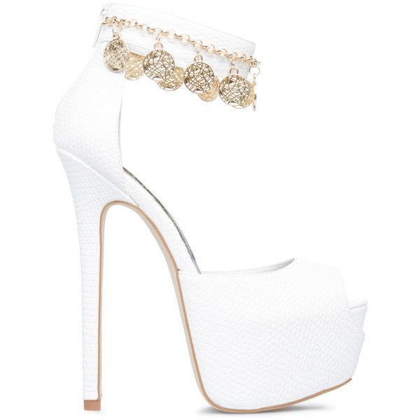21fca7d3caad ShoeDazzle Pumps Joy Womens White ❤ liked on Polyvore featuring shoes