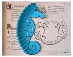 b \u0026 w seahorse template | Seahorse paper plate craft ))  sc 1 st  Pinterest & b \u0026 w seahorse template | Seahorse paper plate craft :)) | Mia\u0027s 7th ...