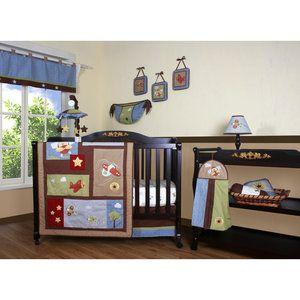 Geenny+Boutique+Airplane+Aviator+12+Piece+Crib+Bedding+Set