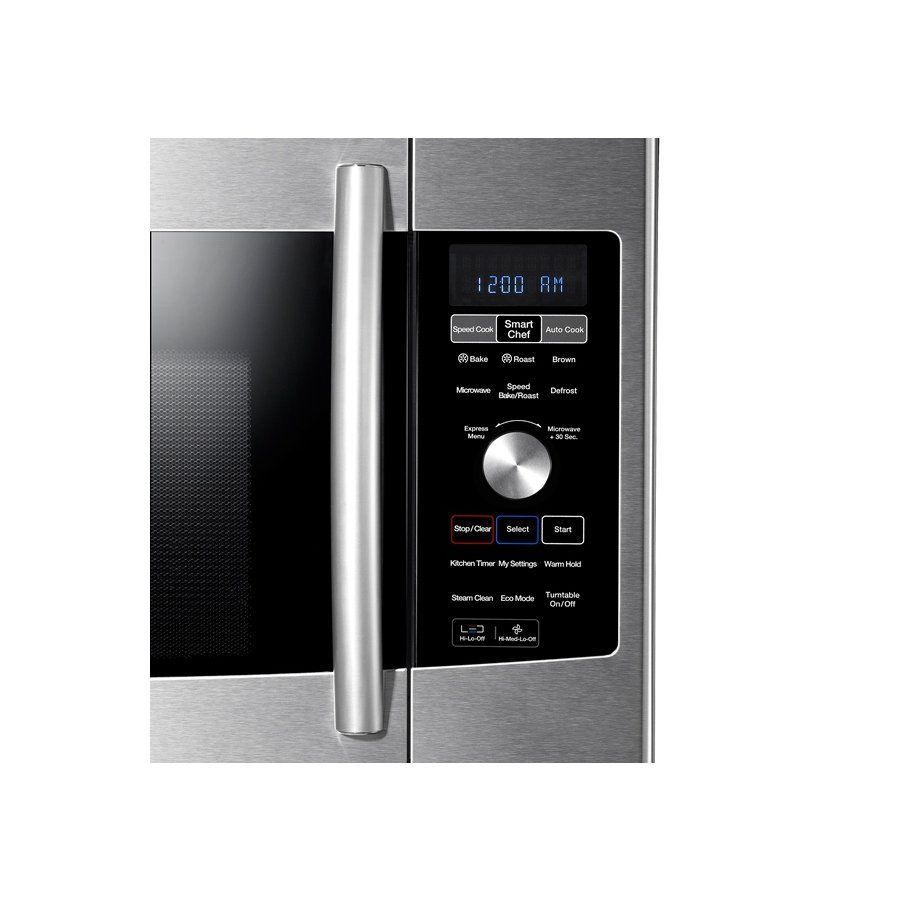 Samsung 1 7 Cu Ft Over The Range Convection Microwave Stainless Steel At Lowe S Canada