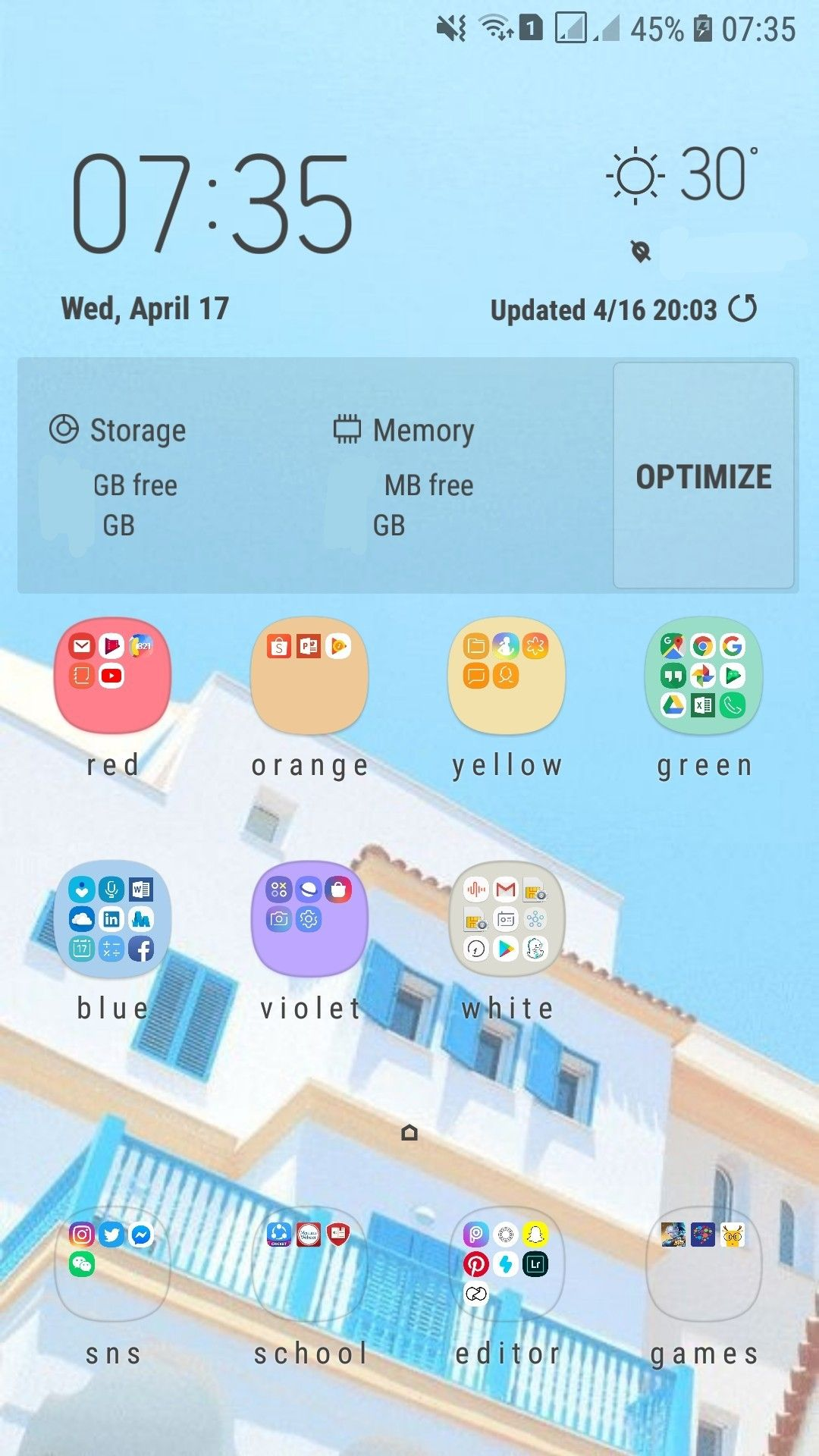 Aesthetic Phone Organization For Samsung User S Organizacao Celular Apps Android Celular Android