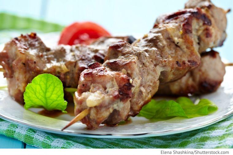 Schaschlik aus Schweinefilet Moldawischer Art