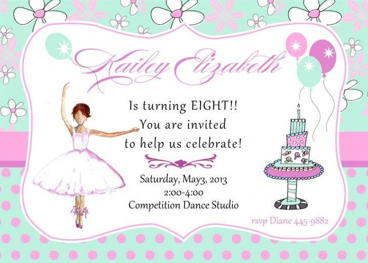 birthday party invitation wording