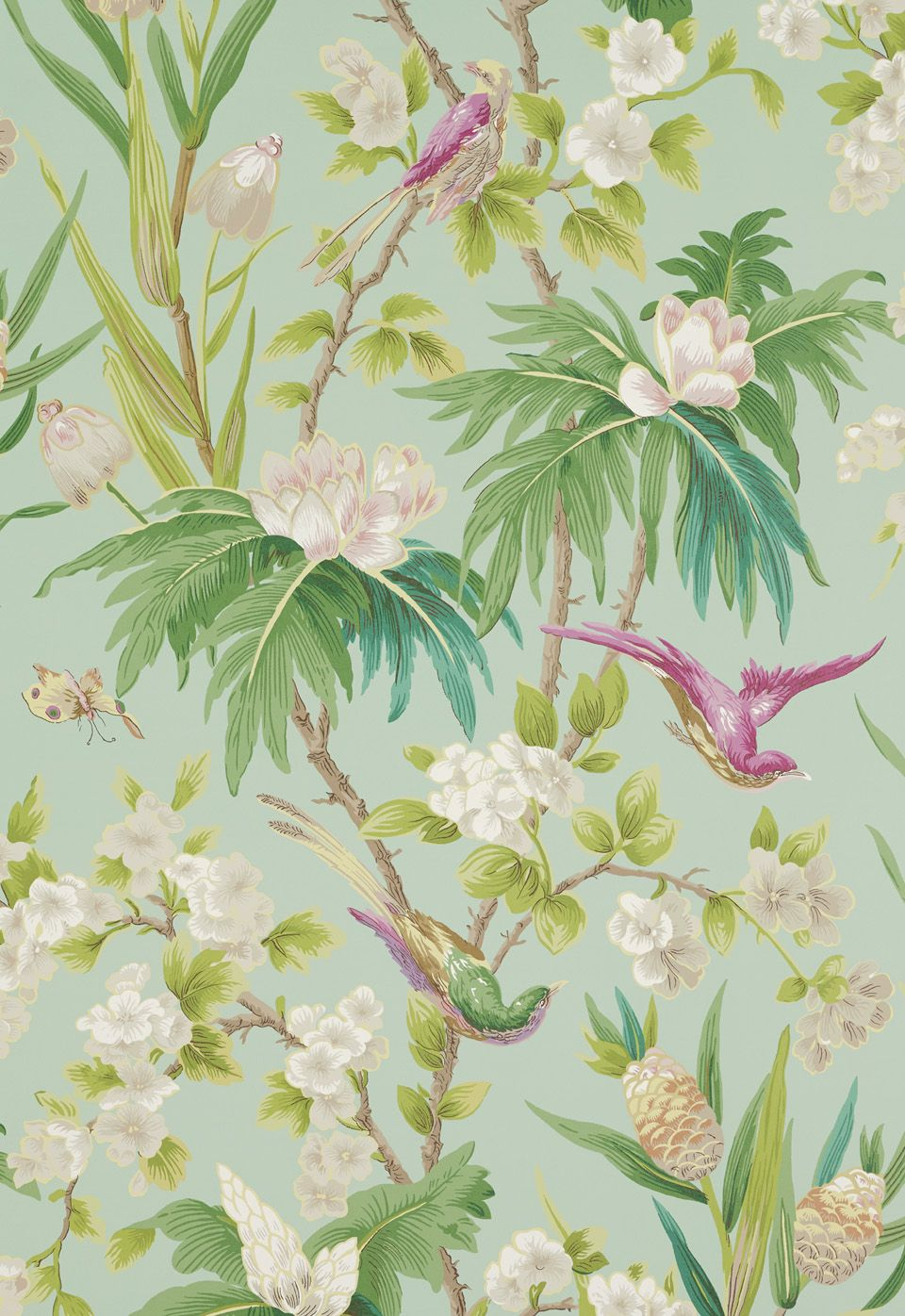 Wallcovering / Wallpaper | Seychelles in Sea | Schumacher shop ...