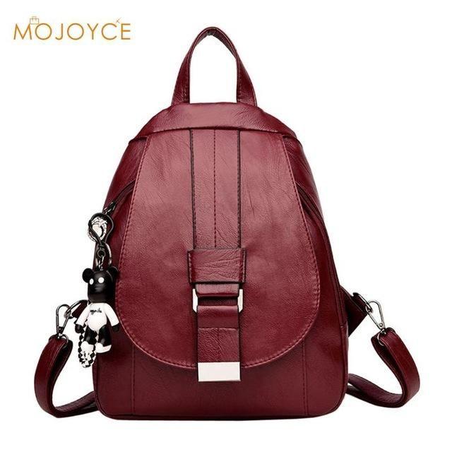 2018 Fashion Backpacks for Teenage Girls Women s PU Leather Backpack Large  Capacity Casual Women Black Backpack Rucksack Bookbag 17da6eca4c750