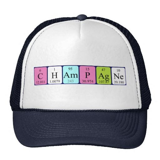 Champagne periodic table name hat