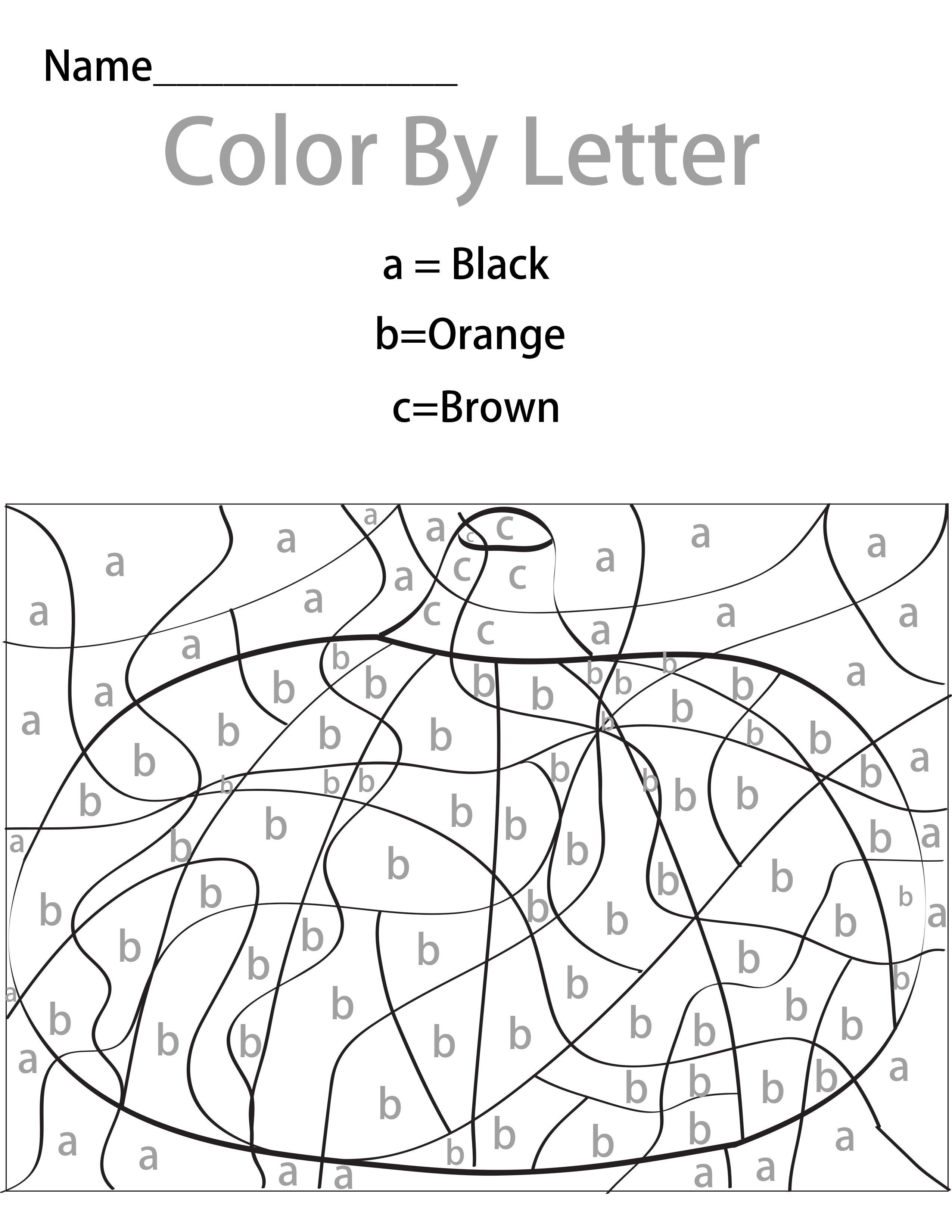 I Love Color By Numbers Or Letter