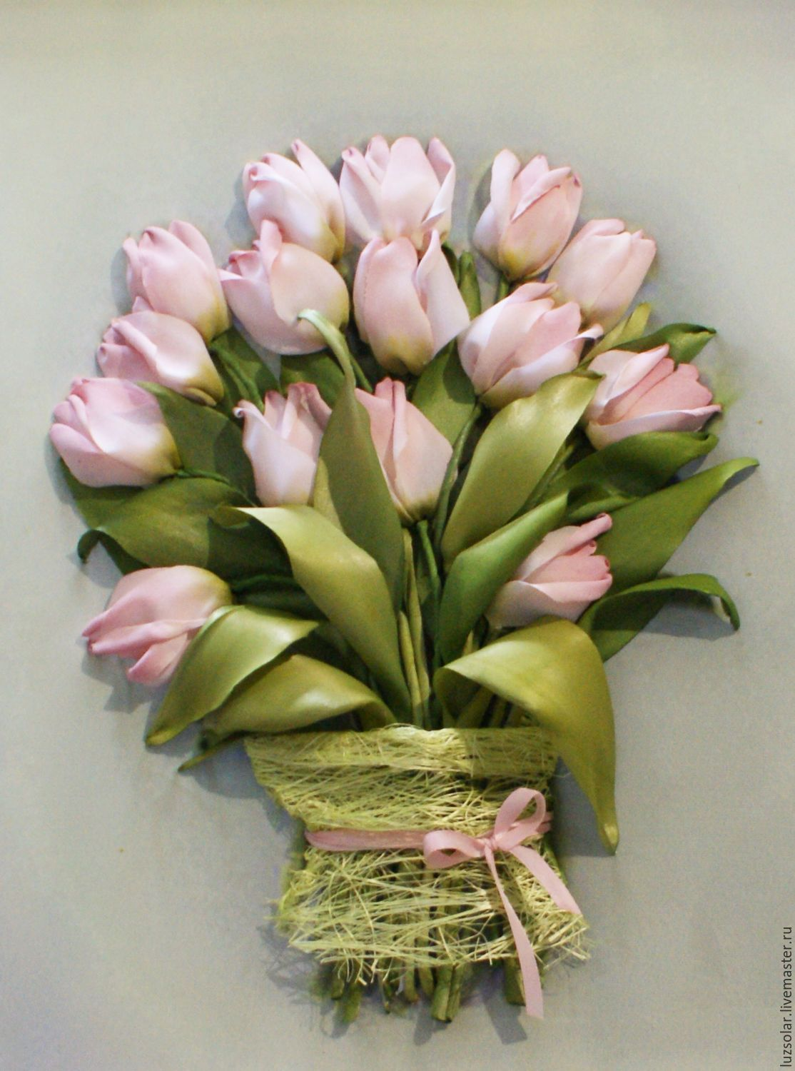 The picture ribbons of Pink tulips – заказать на Ярмарке Мастеров – A2R8JCOM   Картины, Maikop