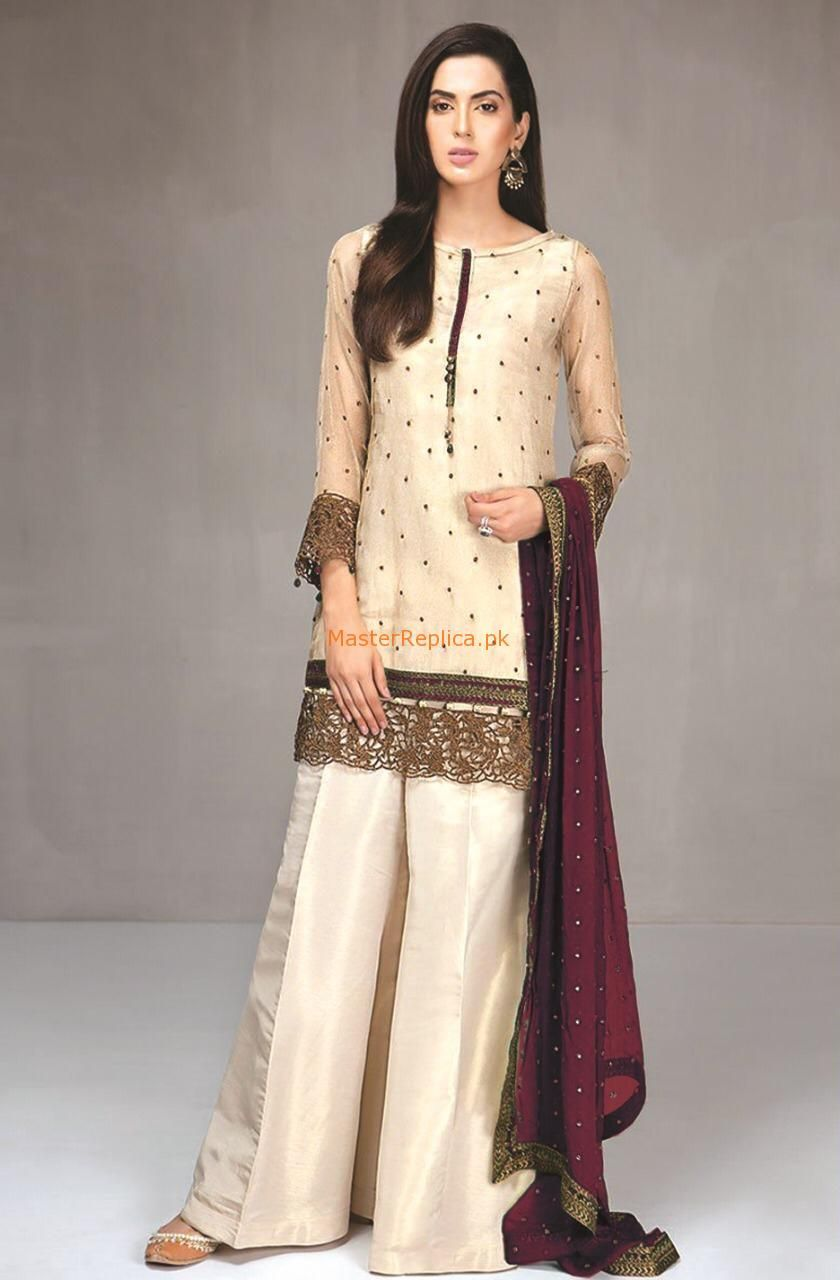 2ef0fd9c104 MARIA B luxury winter collection 2017 in linen at Retail and whole sale  prices at Pakistan s Biggest Replica Online StoreMARIA B
