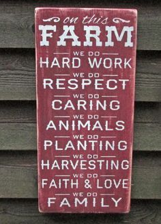 Barn Signs Decor Rustic Farm Sign Primitive Home Decor Wood Sign Hand Painted