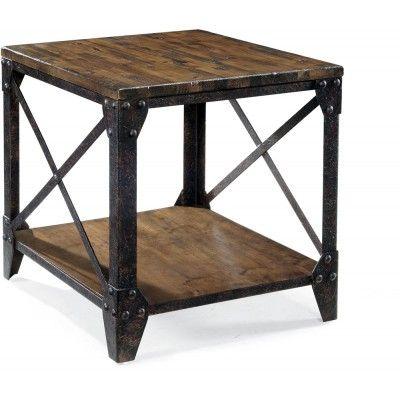 Pinebrook Table De Bout Rectangulaire Meuble En Pin Mobilier De Salon Decoration Du Sud