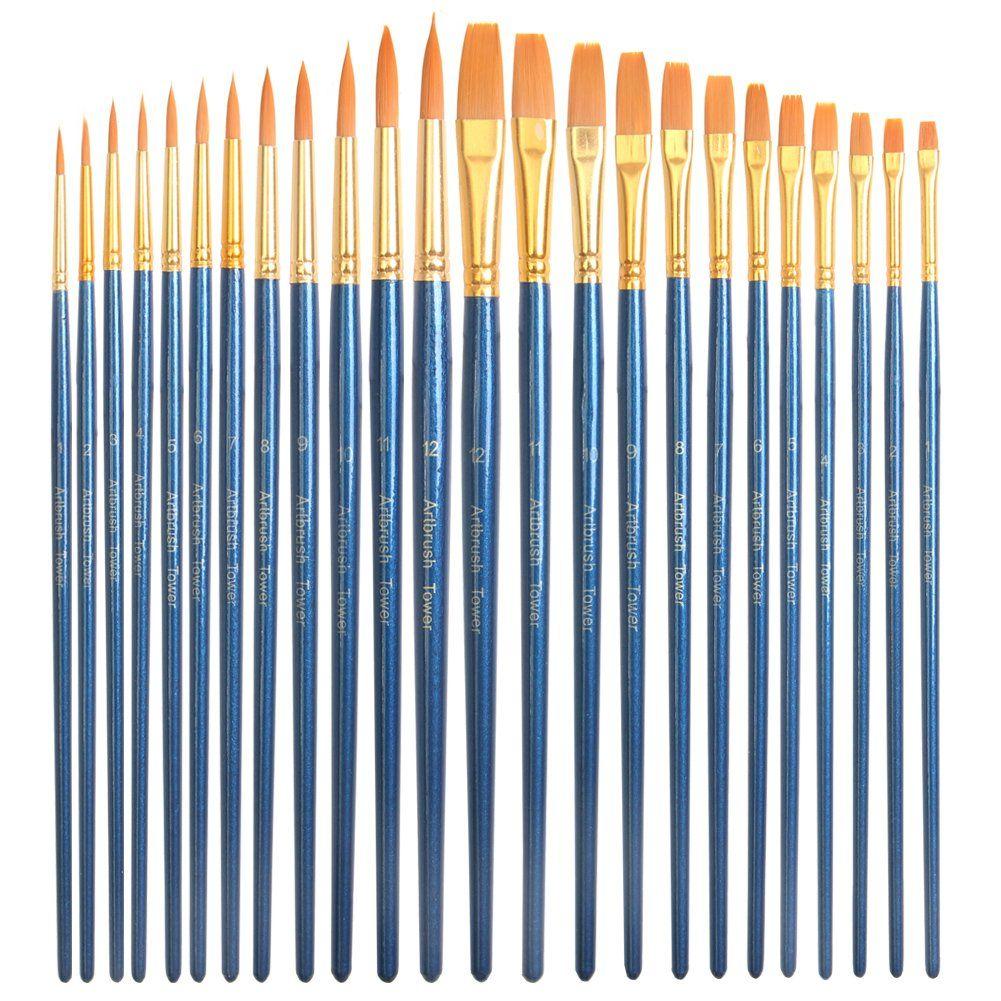 24 Piece Acrylic Paint Brushes Set Best Acrylic Brush Pen